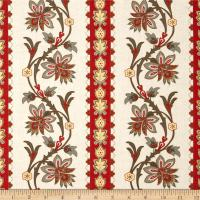 Riley Blake A French Courtyard French Border Red
