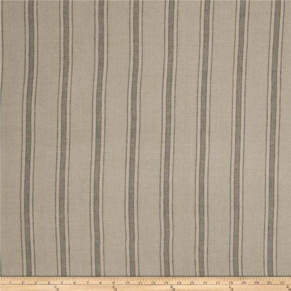 Taupe Linen Fabric Stripe Bar