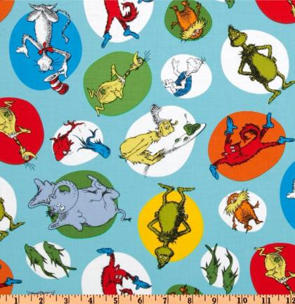 Celebrate Seuss Slicker Laminated Cotton Fabric