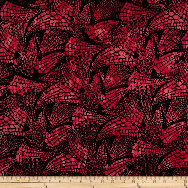 Northcott Croc Red - Designer Fabric