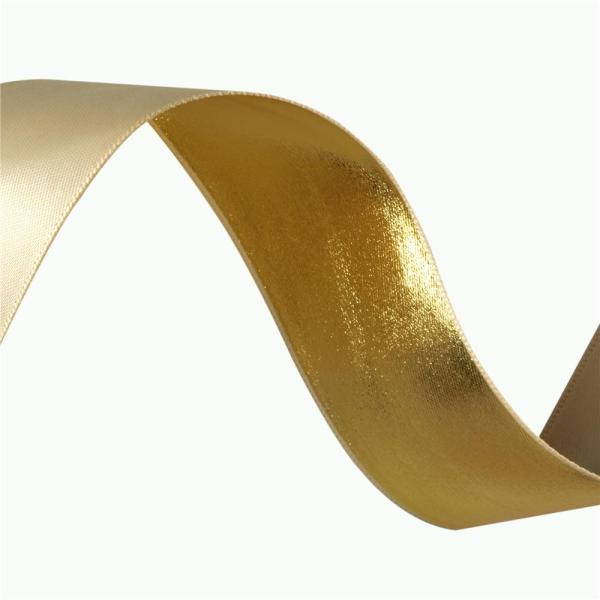 1 2'' Reversible Satin Metallic Ribbon