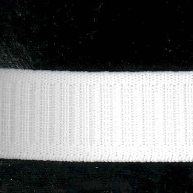 1'' White Flat No-Roll Elastic