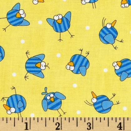 Timeless Treasures Rock the Flock Bird Toss Fabric