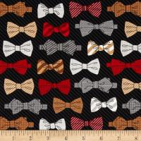 Fox and The Houndstooth Bowties Black - Discount Designer ...