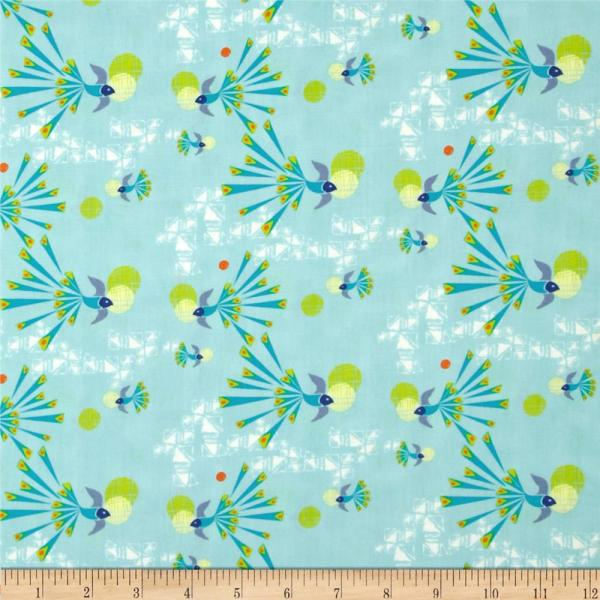 Art Safari Moon Soaring Free Clear - Designer Fabric