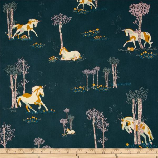 Art Fantasia Unicorn Fable Balsamtree - Designer Fabric