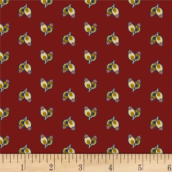 & Textiles Soldier' Quilt Buds Red