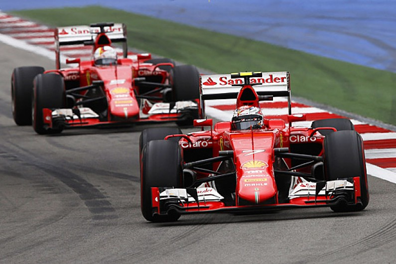 Image result for Ferrari F1 leading race 2015