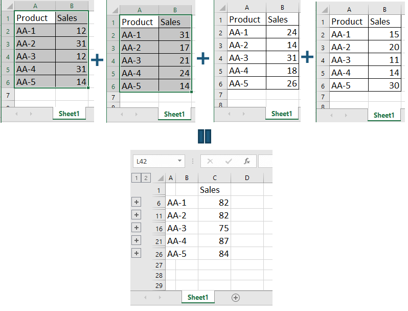 How to collect data from multiple sheets to a master sheet