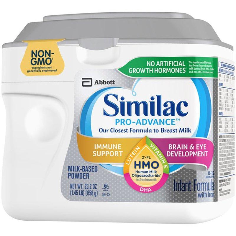 Similac Pro-Advance Non-GMO HMO Infant Formula with Iron ...