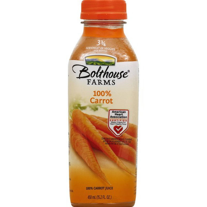 Bolthouse Farms 100% Carrot Juice (15.2 fl oz) - Instacart