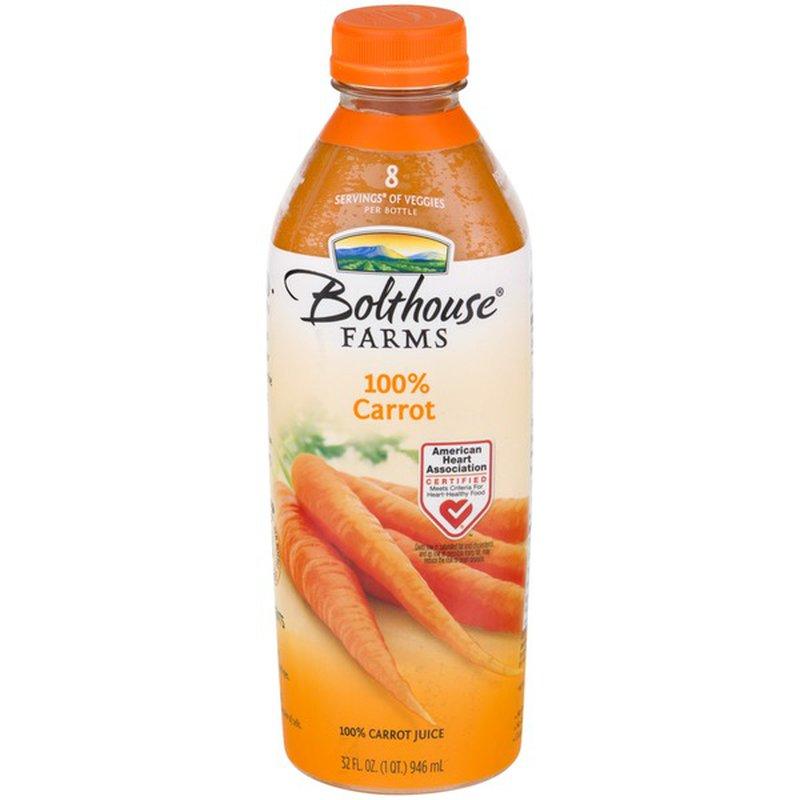 Bolthouse Farms 100% Juice Carrot (32 fl oz) - Instacart