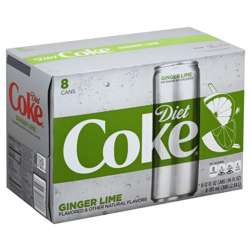 Diet Coke Ginger Lime - 8 CT (12 fl oz) from Food Lion ...