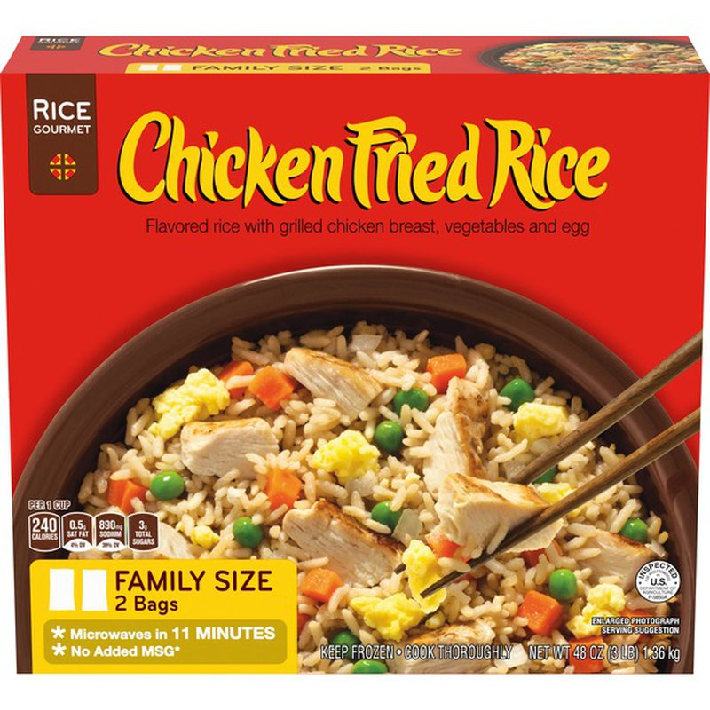 chicken fried rice family size frozen