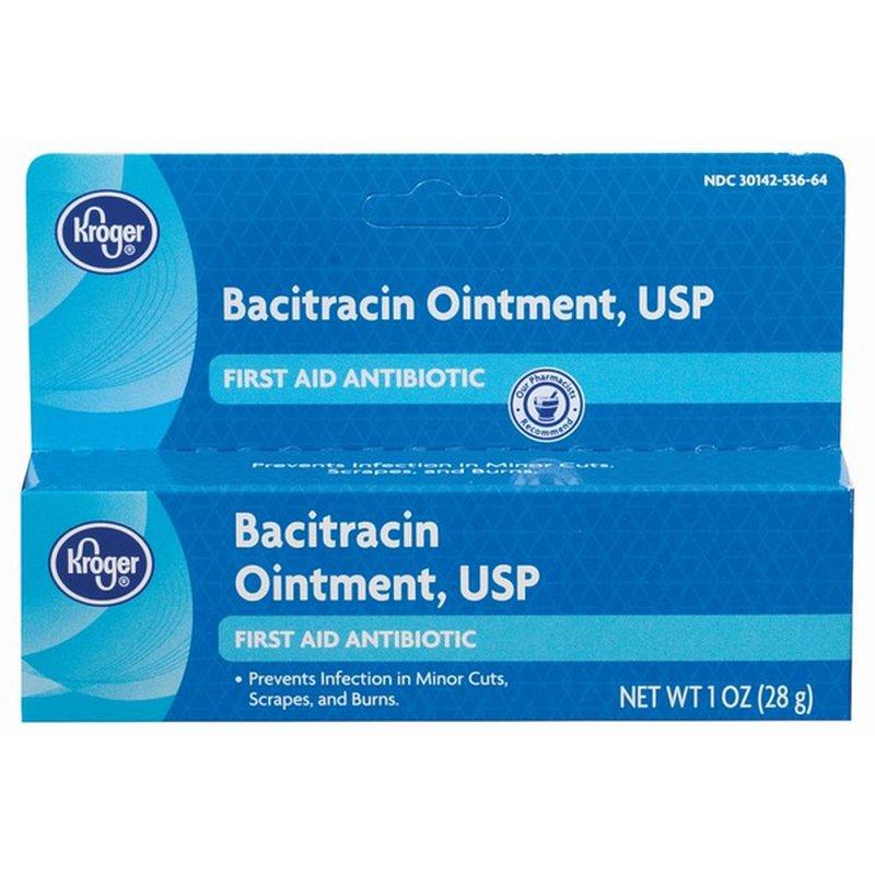 Kroger First Aid Antibiotic Bacitracin Ointment Usp (1 oz ...