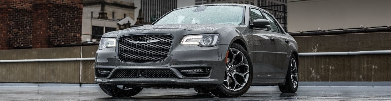 2019 Chrysler 300 front exterior view, shown in silver