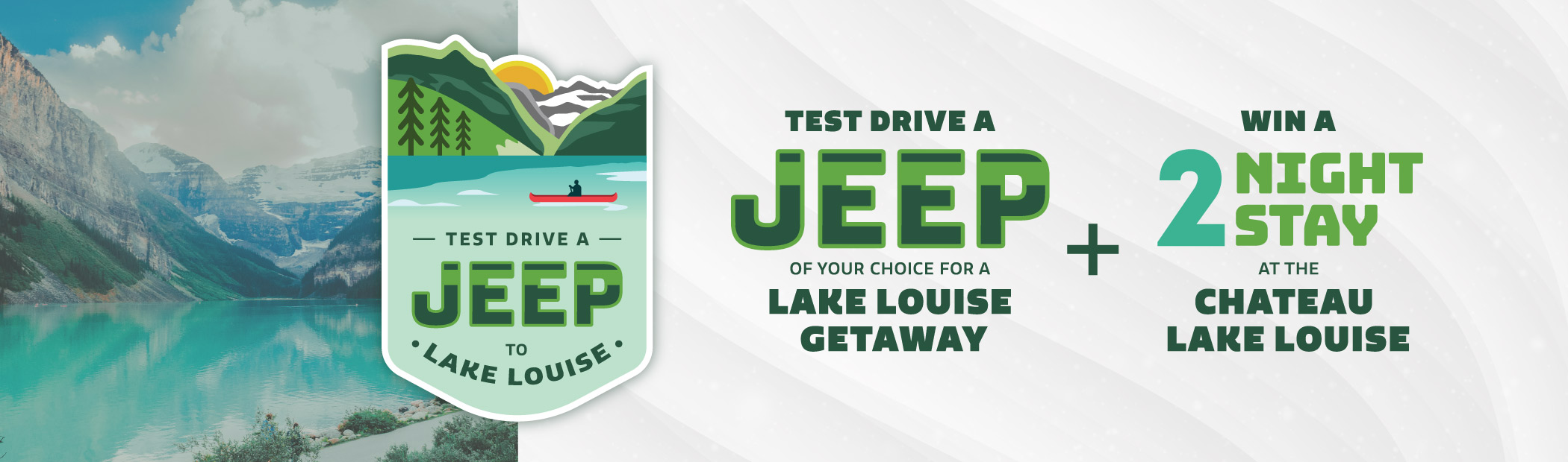 Test Drive a Jeep to Lake Louise