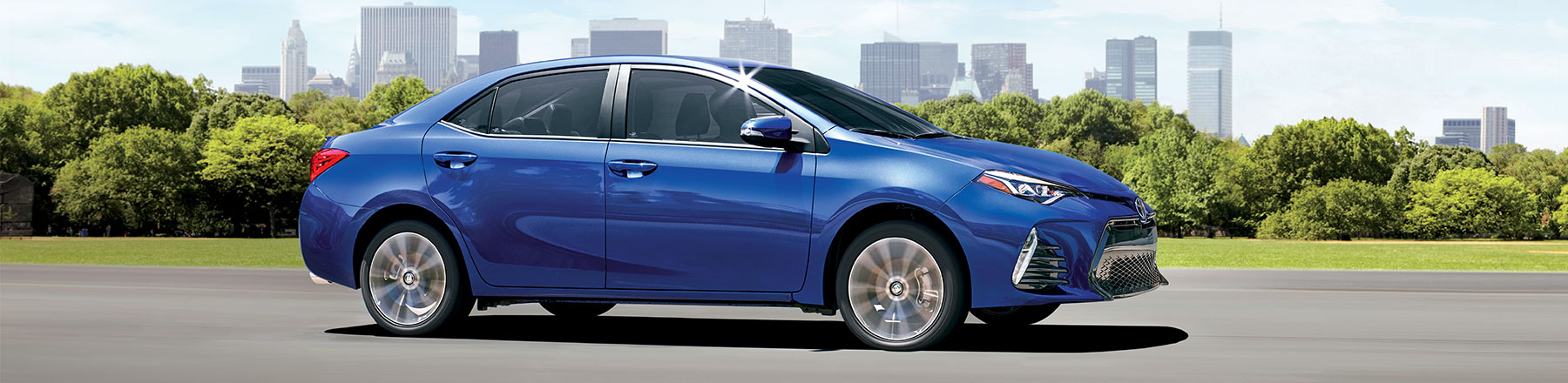 Corolla shown in Blue Crush Metallic