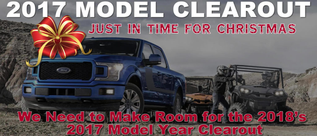 2017 Model Clearout