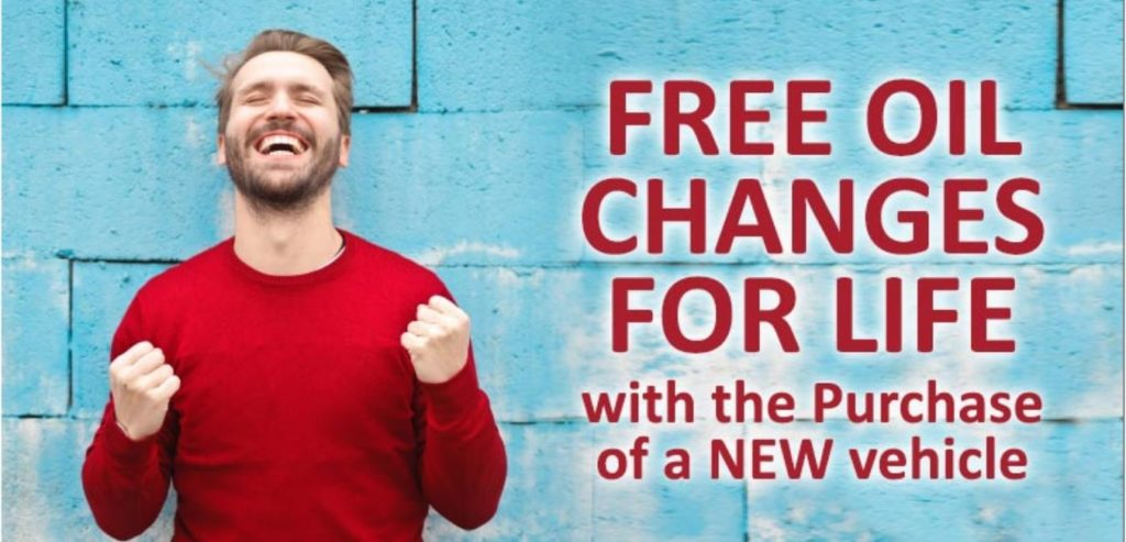 Free Oil Changes with New Vehicle Purchase