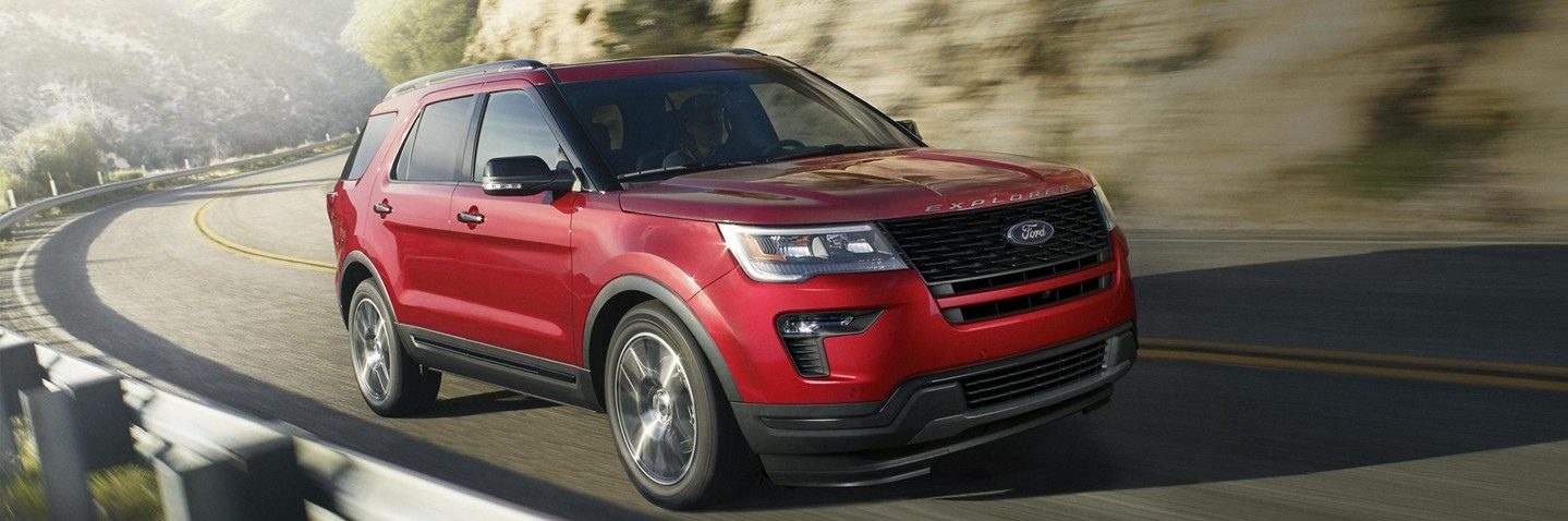 The 2019 Ford Explorer fearlessly charges up a mountain path