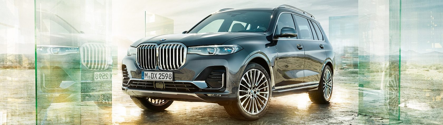 BMW X7 in a futuristic outdoor setting