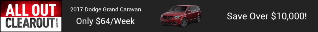 October Dodge Grand Caravan offer