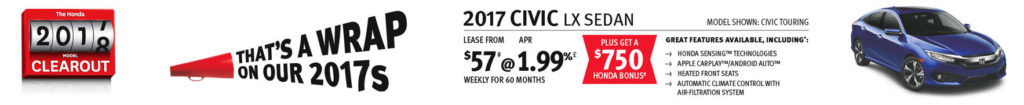 October Civic offer