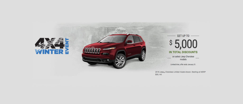 January Jeep offer