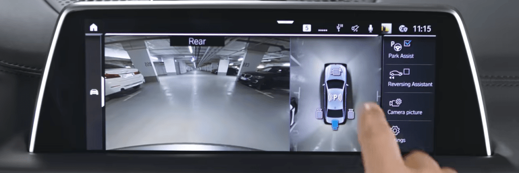 BMW Surround View Camera display screen