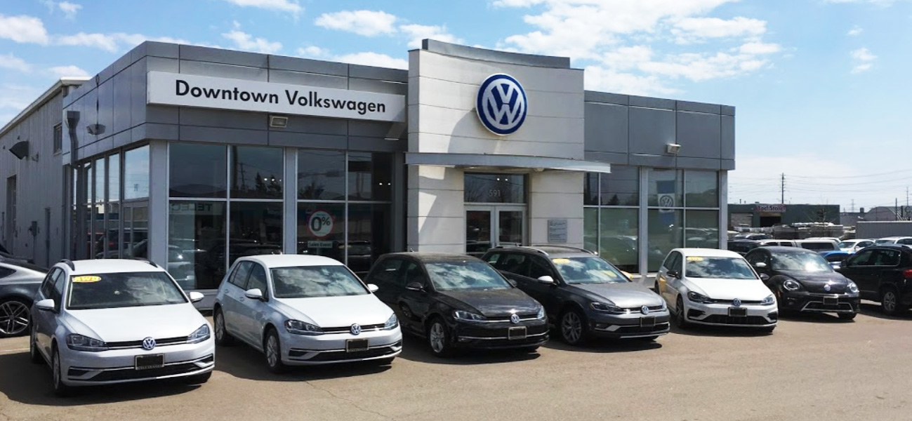 downtown volkswagen showroom