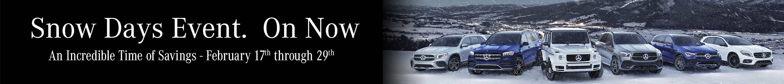 Top Page Banner Feb 24 2020 Mercedes Benz Downtown Calgary Snow Day