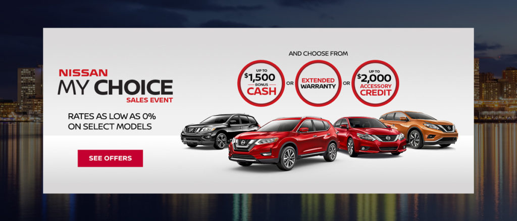 May Nissan incentive