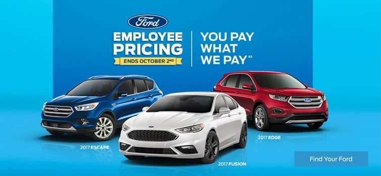 Ford Employee Pricing at Team Ford