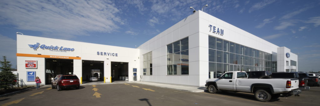 A view of the service bays at Team Ford in South Edmonton