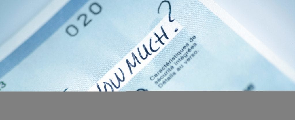 """Cheque with """"How Much"""" Written in the Amount Field"""