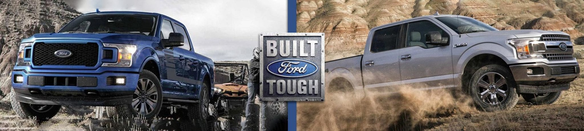 Two Built Tough Ford F-150's In mud and towing through water