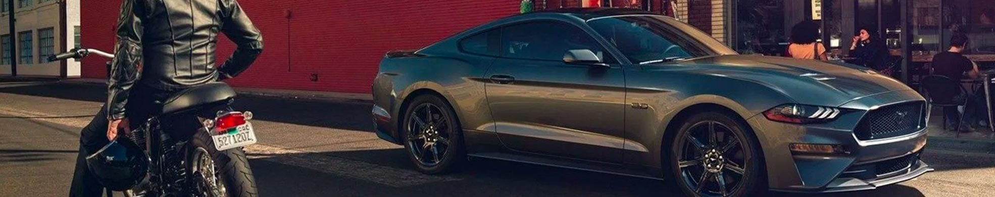 Grey Ford Mustang at Team Ford, Edmonton
