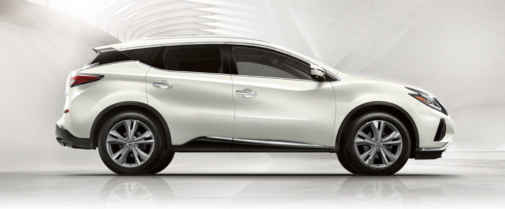 2019 nissan murano crossover in pacific sunset white