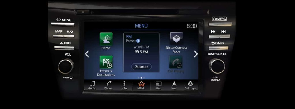 NissanConnect infotainment screen