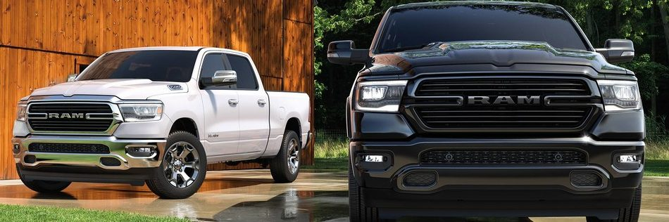 2019 Ram 1500 Black and White colours options