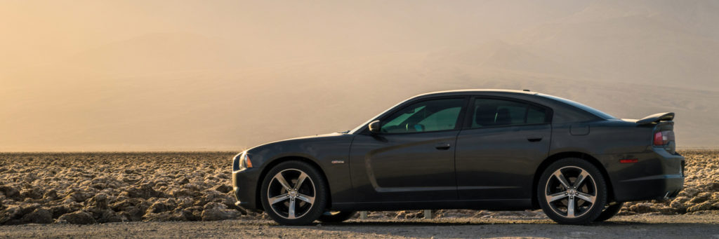 Dodge Charger in the California desert