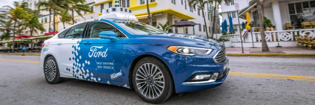 Ford Pilots Self-Driving Vehicle Services in Miami