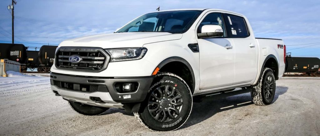 2019 Ford Ranger Lariat in all-white