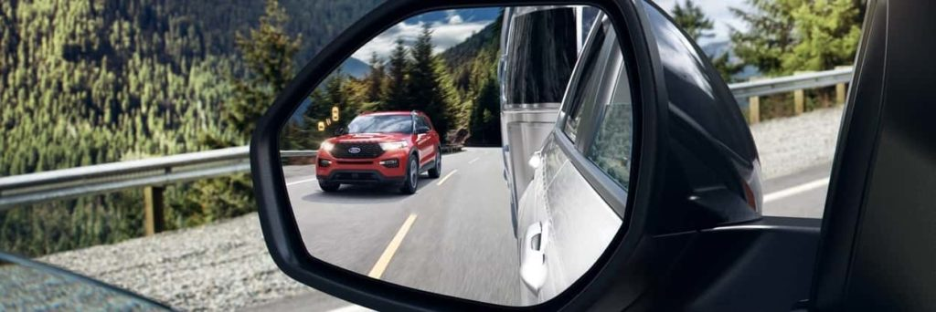 the 2020 Explorer in red