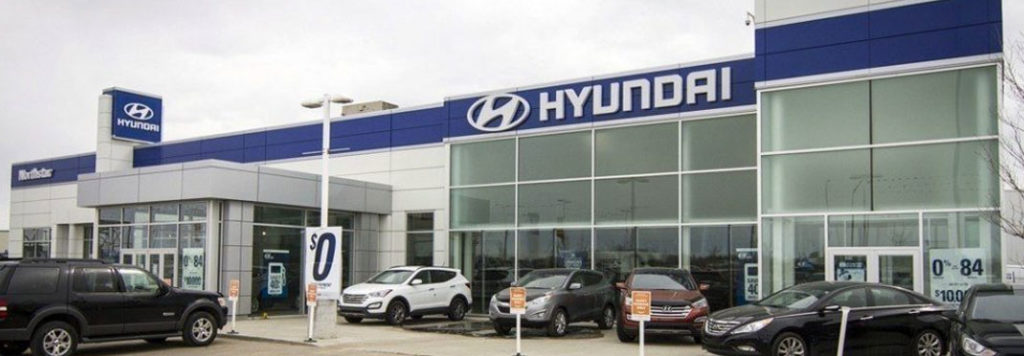 exterior of northstar hyundai in edmonton, ab