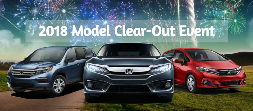 2018 Honda Vehicle Clearout