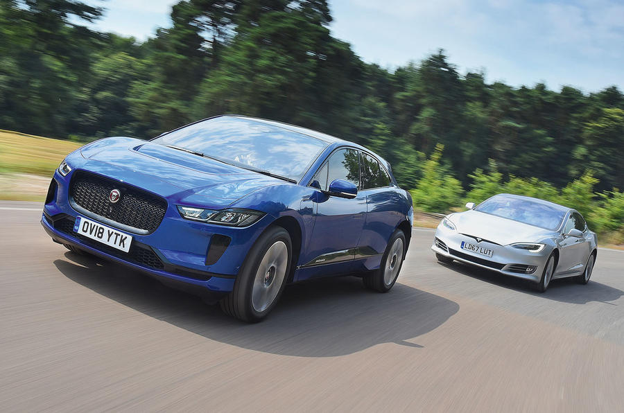 EV twin test: Tesla Model S vs Jaguar I-PACE
