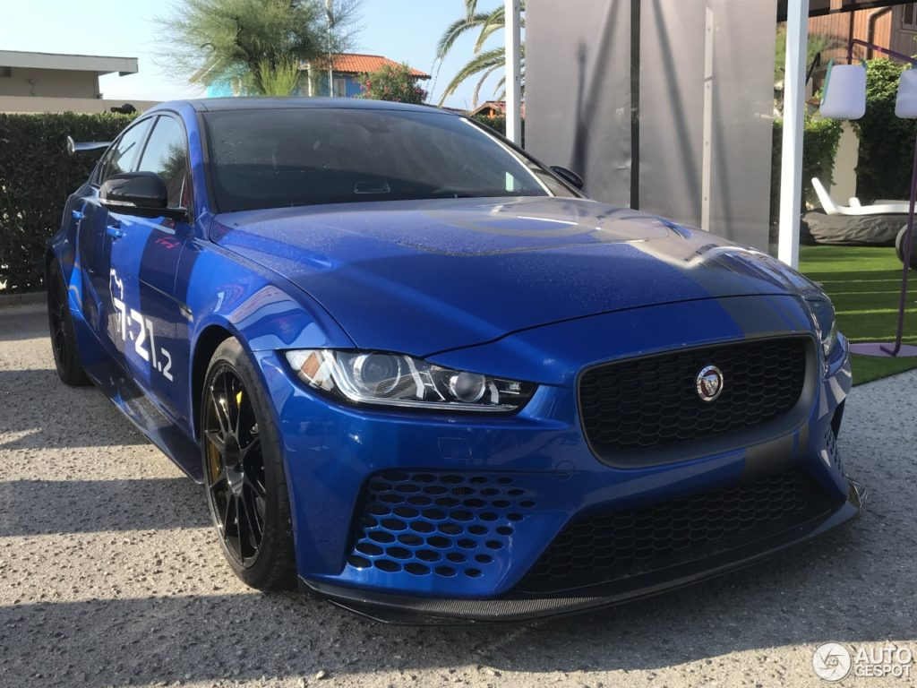 Jaguar XE SV Project 8 spotted in small town in Tuscany