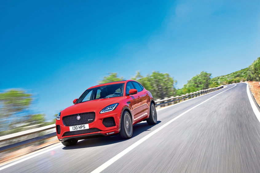Compact Jaguar SUV sets the pace